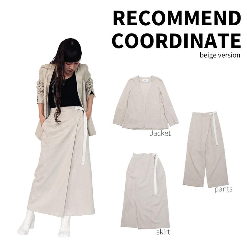 2021年春夏ENTO(エント)綿麻シリーズを使った、綿麻ノーカラージャケットと綿麻アシメタックパンツと綿麻ラップスカートの着まわしアレンジ術をご紹介!