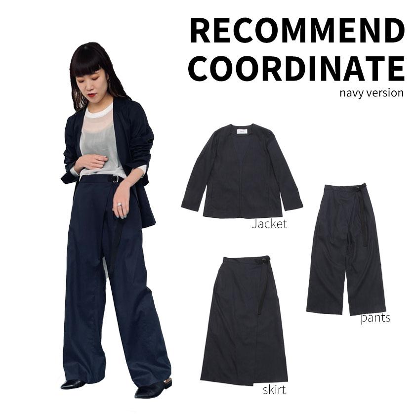 2021年春夏ENTO(エント)綿麻シリーズのジャケット・パンツ・スカートを使った着まわしアレンジをネイビーカラーでご紹介!