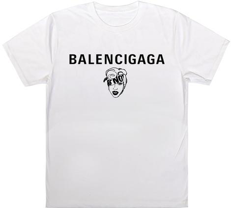 BLACK SCORE バレンシアガ レディガガパロディTシャツ