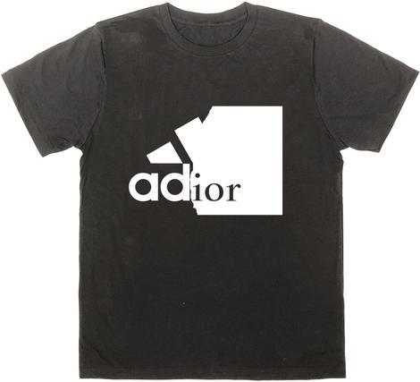 BLACK SCORE adidas × Dior パロディTシャツ