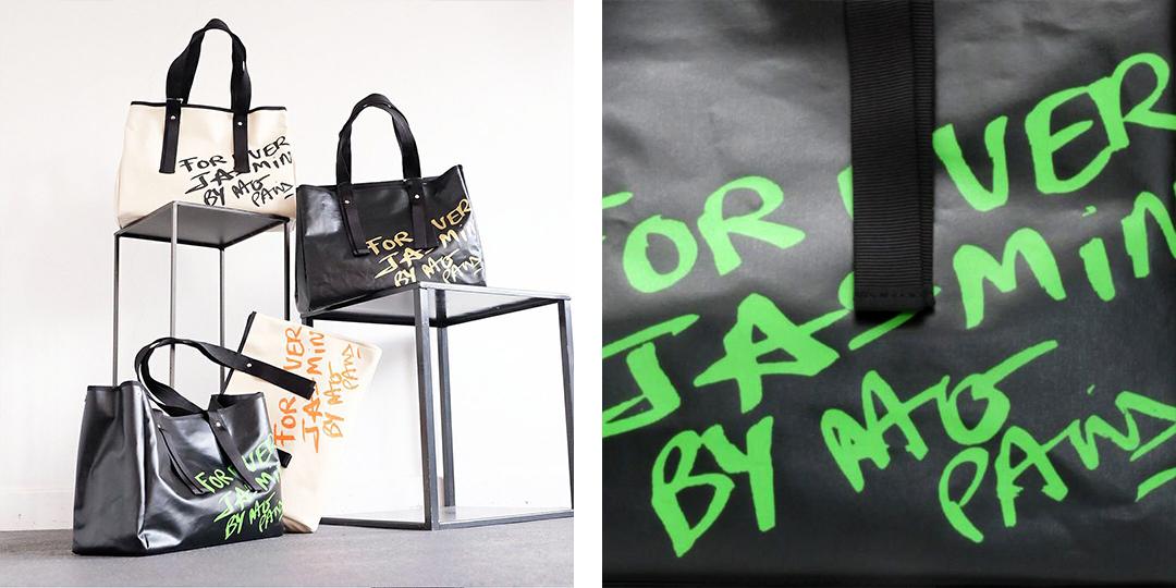 ナコパリによるドローイングデザインがカジュアルな印象のトートバッグ