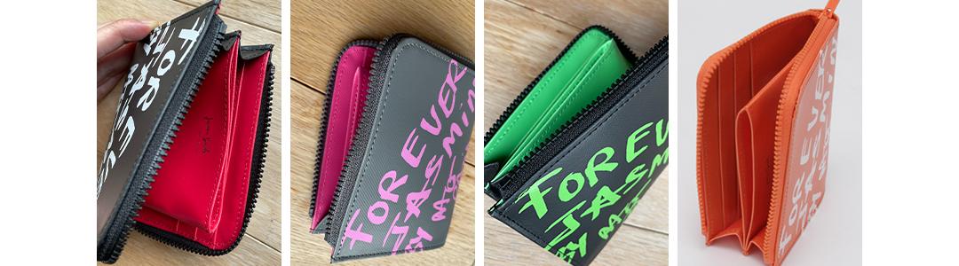 元気になりそうな発色の良いバイカラーの財布で開運パワーがあるかも?
