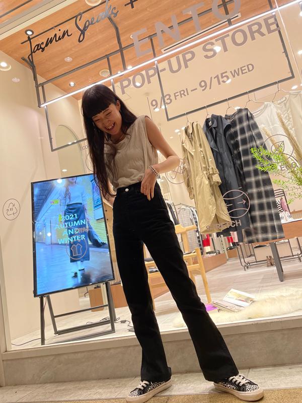 9/3(金)、4(土)、5(日)は、ENTOディレクター兼モデルのユカが来店