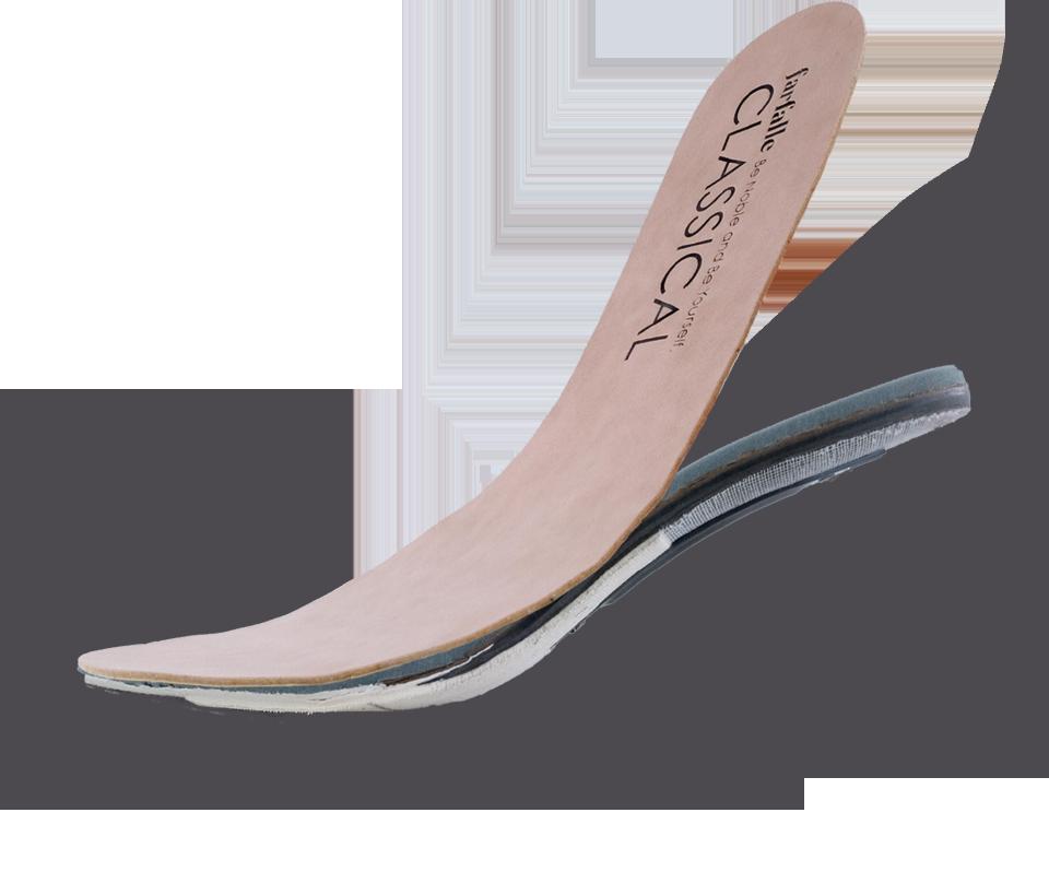 体温によって柔らかくなり、冷えると固まる、三井化学株式会社の新素材「形状記憶シート・HUMOFIT®」を中敷きに組み込むことで、自分の足型にピタリと沿った履き心地を実現したオーダーメイド感覚のインソールです