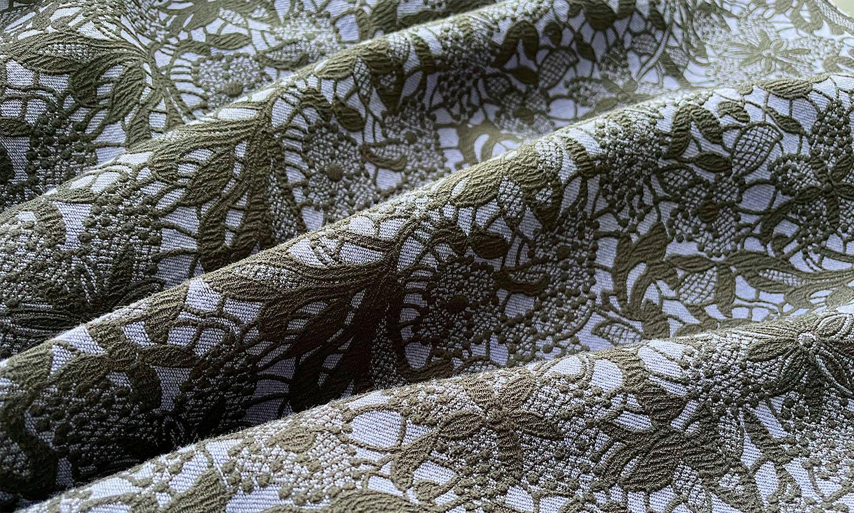 レース調の花柄が上品な神戸・山の手レースジャガードスカート