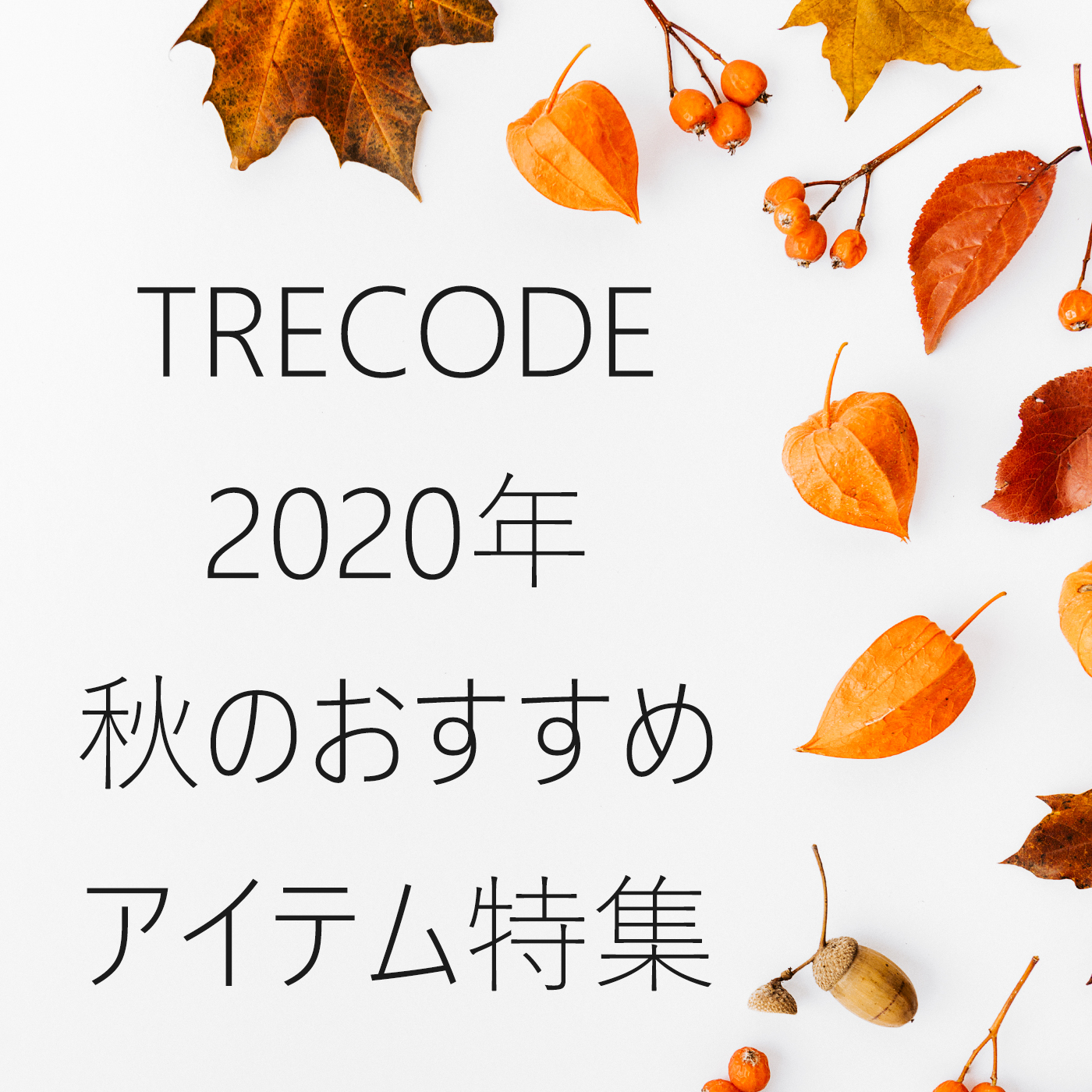 トレコードの2020年秋おすすめアイテム