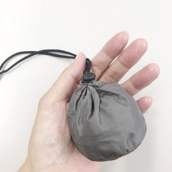 手のひらサイズになる携帯に便利なファルファーレオリジナルエコバッグプレゼント