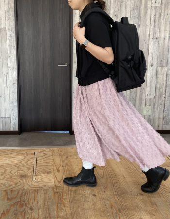 カットフェザースカート ピンク