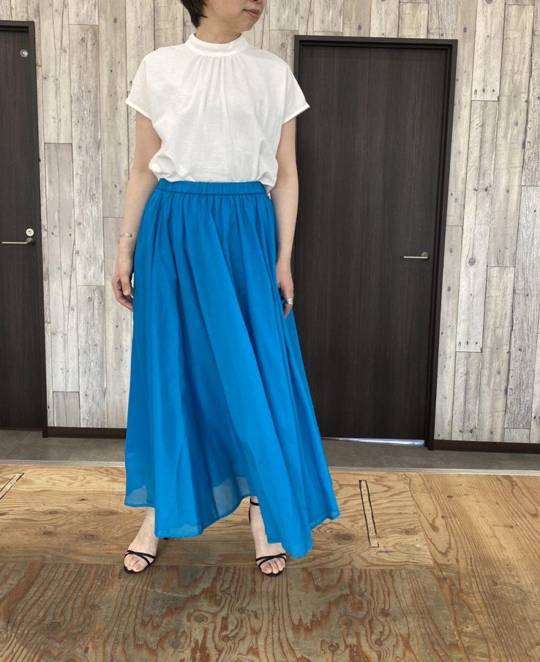 サマースカート ブルー