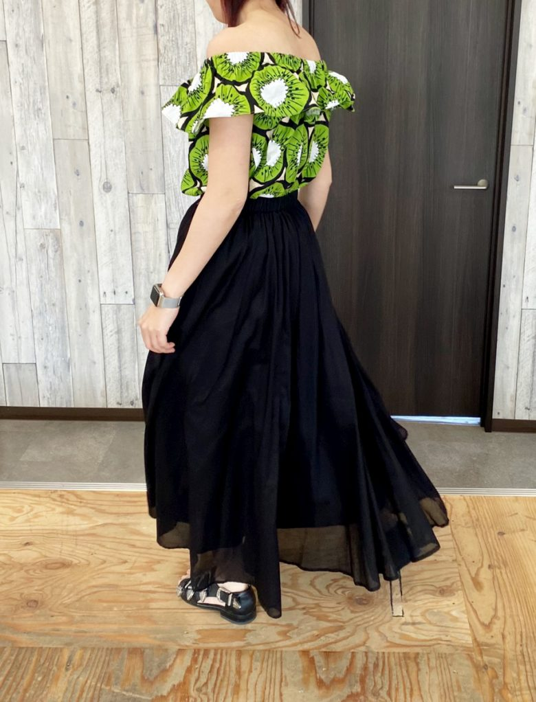 サマースカート ブラック